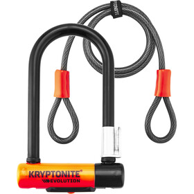 Kryptonite Evolution Mini-7 Cykellås + Kryptoflex sort